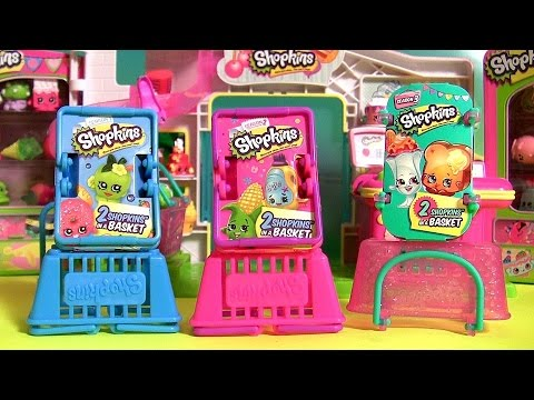 Shopkins Season 3 2 1 Baskets Toy Surprise Unboxing By DisneyCollector
