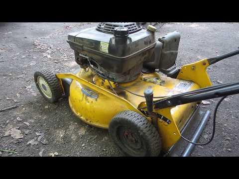 broken cub cadet push mower trouble shooting