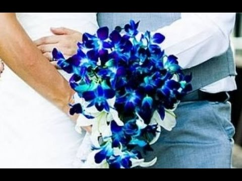 Blue Orchid Wedding Bouquet - YouTube