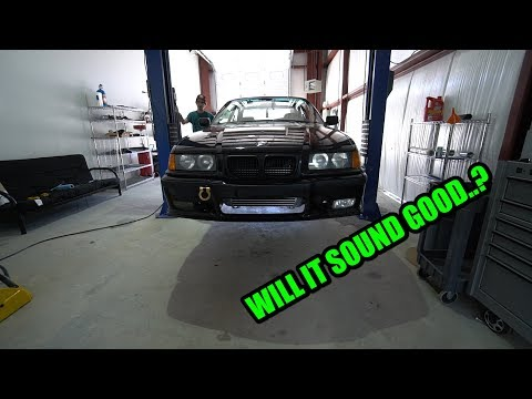 BOOSTED E36 GETS FULL STRAIGHT PIPE!