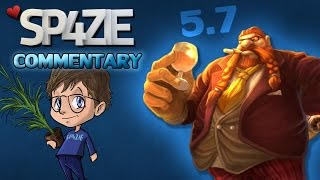 ♥ LoL Commentary - Gragas Jungle 5.7 - Sp4zie