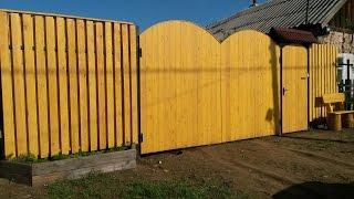 Арочные ворота с калиткой своими руками