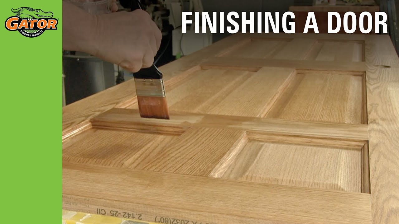 How To Stain And Paint Unfinished Doors