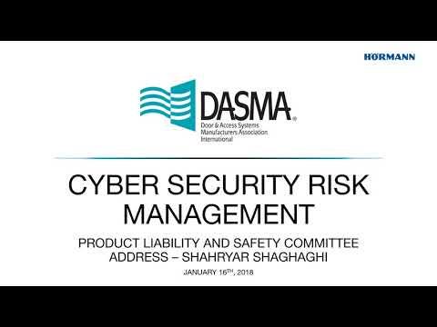 DASMA '18   PLSC   Cyber Security Risk Management
