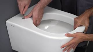Sanindusa - How to install a wall hung toilet with a hidden fixation