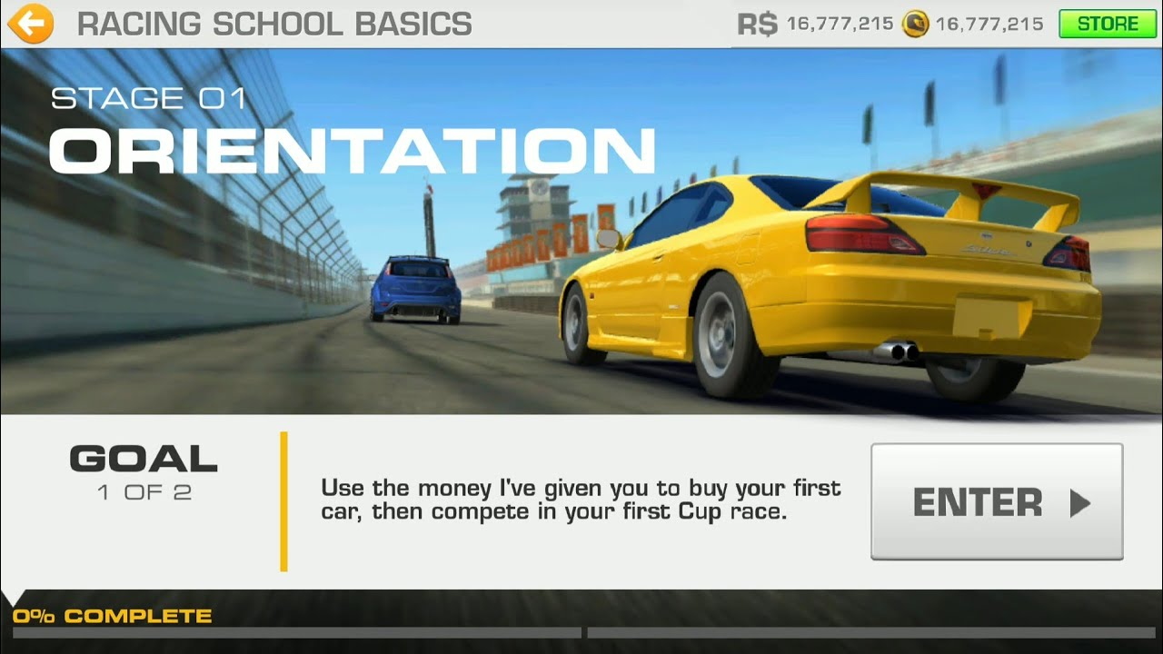 REAL RACEING 3 CAREER AMATEUR Raceing school basic stage 1 goal 1 and goal 2