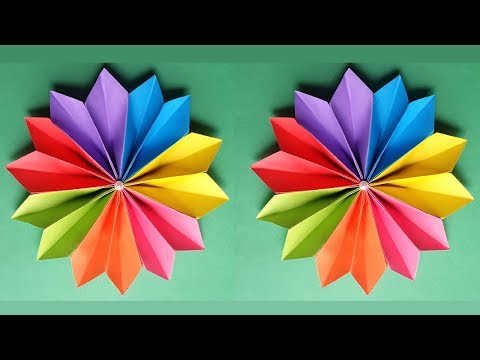 How to Make a Beautiful Flower With Colour Paper !!!!