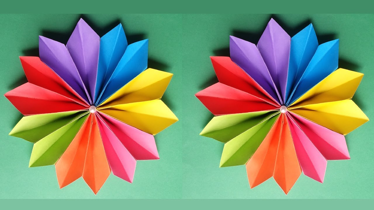 How To Make A Beautiful Flower With Colour Paper Youtube