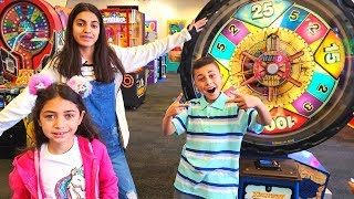 Heidi and family at the Indoor playground and games for kids