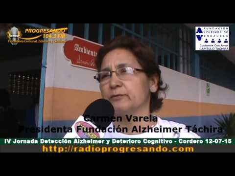 IV Jornada de Detección de Alzheimer y Deterioro Cognitivo – Cordero 12-07-15
