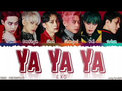 EXO (엑소) - 'YA YA YA' Lyrics [Color Coded_Han_Rom_Eng]