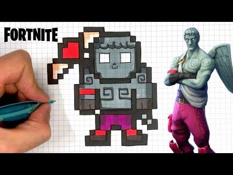 How To Draw Love Ranger Pixel Art Fortnite Youtube