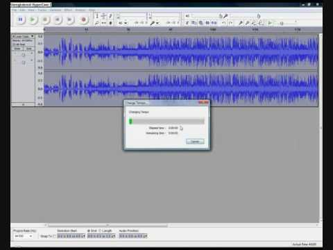 How To Change The Pitch, Tempo, And Speed Of Any MP3 Song using Audacity