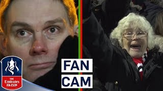 Fans React as United Score 4 Against Yeovil | Fan Cam | Emirates FA Cup 2017/18