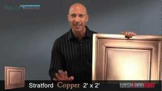 ProLITE Stratford 2x2 Ceiling Tile - Copper