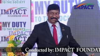 """Born to succeed"" Gampa Nageshwer Rao at IMPACT Khammam 2016"