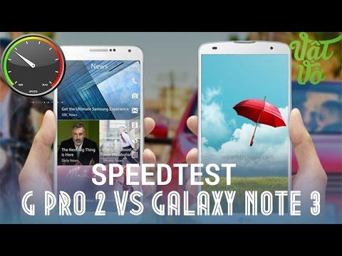 [Review dạo] So sánh hiệu năng, tốc độ LG G Pro 2 và Samsung Galaxy Note 3 Docomo/Au