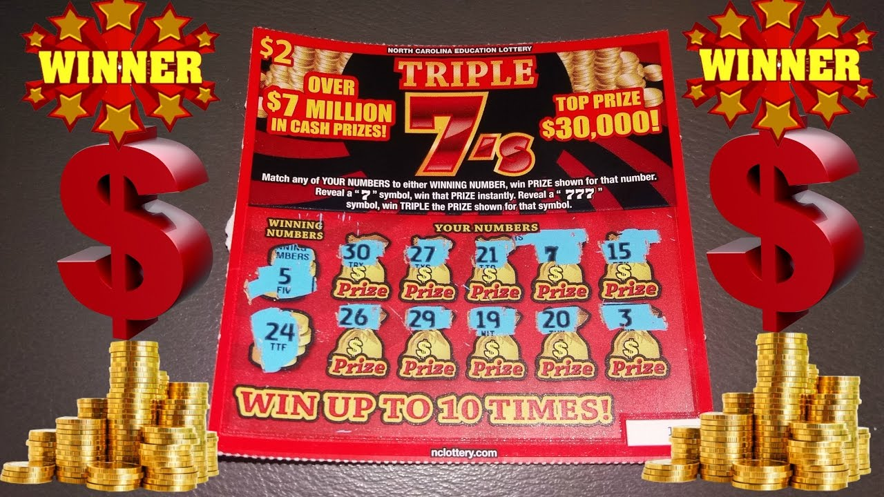 New Triple 7\'s Winning Ticket NC Lottery - YouTube