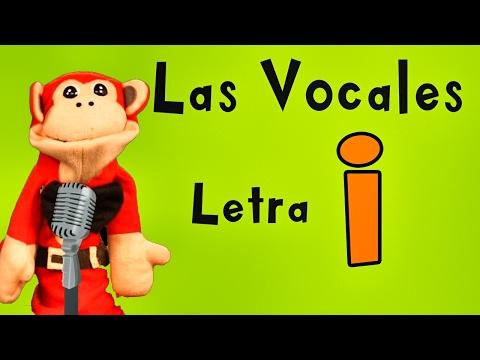 La Canción de las Vocales - A E I O U - Letra i  - Show del Mono Sílabo - Canciones Infantiles
