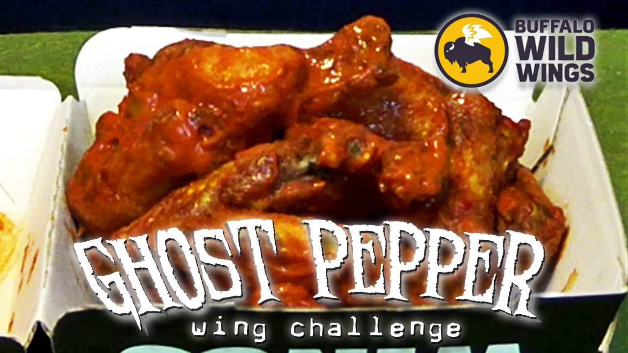 Ghost Pepper Wings Challenge Buffalo Wild Wings Youtube
