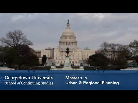 Master's in Urban & Regional Planning at Georgetown University