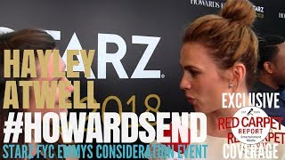 Hayley Atwell interviewed at Starz Emmys FYC Event for Howards End #FYCEmmys