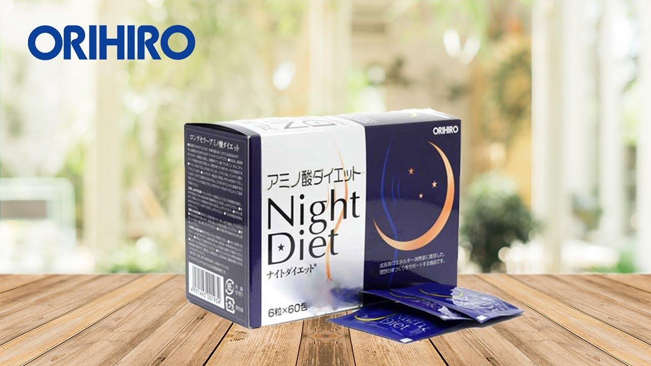 Viên uống giảm cân Night Diet Orihiro hộp 60 gói – Shinrai Shop