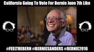 CNN California Primary Election 2016 - Bernie Sanders - Hillary Clinton - Bernie Winning by 5 Points