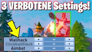 These 3 SETTINGS let you HACK en in Fortnite... *NEW*