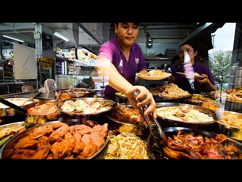 Singapore Street Food | Mouthwatering Breakfast Tour in Singapore - VLOG