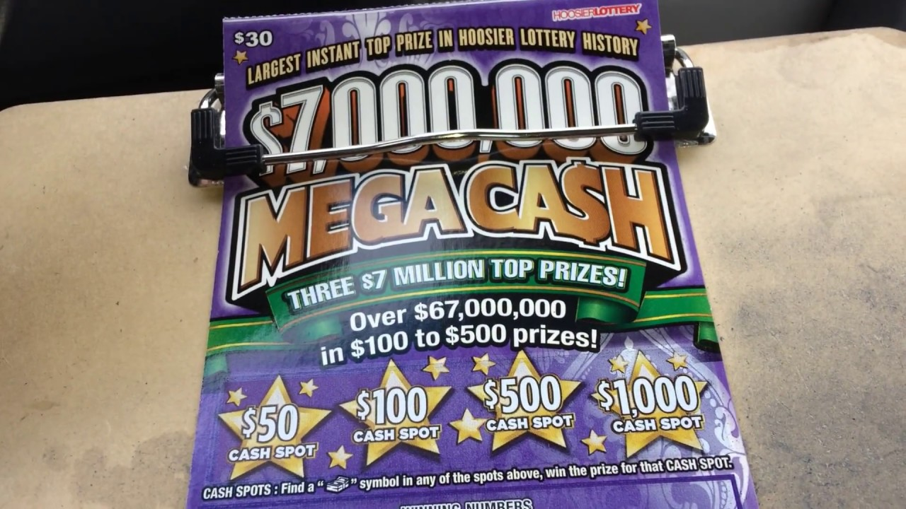 $30 $7,00,000 Mega Cash Hoosier Lottery Scratch Off Bottom Row Save !