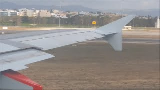 TAP Airline Portugal Takeoff from Faro Airport FAO to Lisbon LIS Airport an Airbus A319 Taking Off