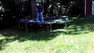 Fun on trampoline