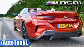 BMW M850i Convertible EXHAUST SOUND Revs & ONBOARD by AutoTopNL