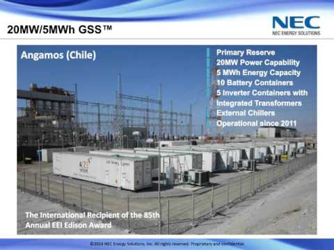 NEC Energy Solutions Webinar: Energy Storage for the Grid