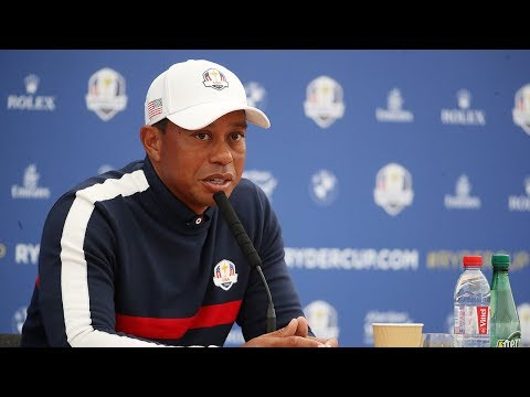 Tiger Woods, Mickelson, DeChambeau & Reed  Press Conference LIVE from Le Golf National