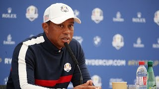 Tiger Woods, Mickelson, DeChambeau & Reed | Press Conference LIVE from Le Golf National