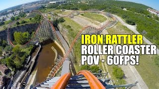 Iron Rattler 60FPS Roller Coaster POV Six Flags Fiesta Texas