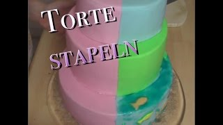 Torte stapeln | mehrstöckige Torte stützen | dreistöckige Torte stapeln