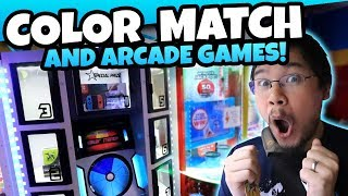 Color Match and Ticket Games! Tons of Fun Playing Arcade Games at Tangi Lanes Arcade! TeamCC