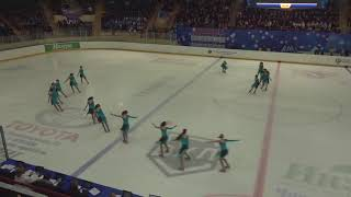 Чемпионат России по синхронному катанию KMC Короткая программа 10 Мордовия SRN