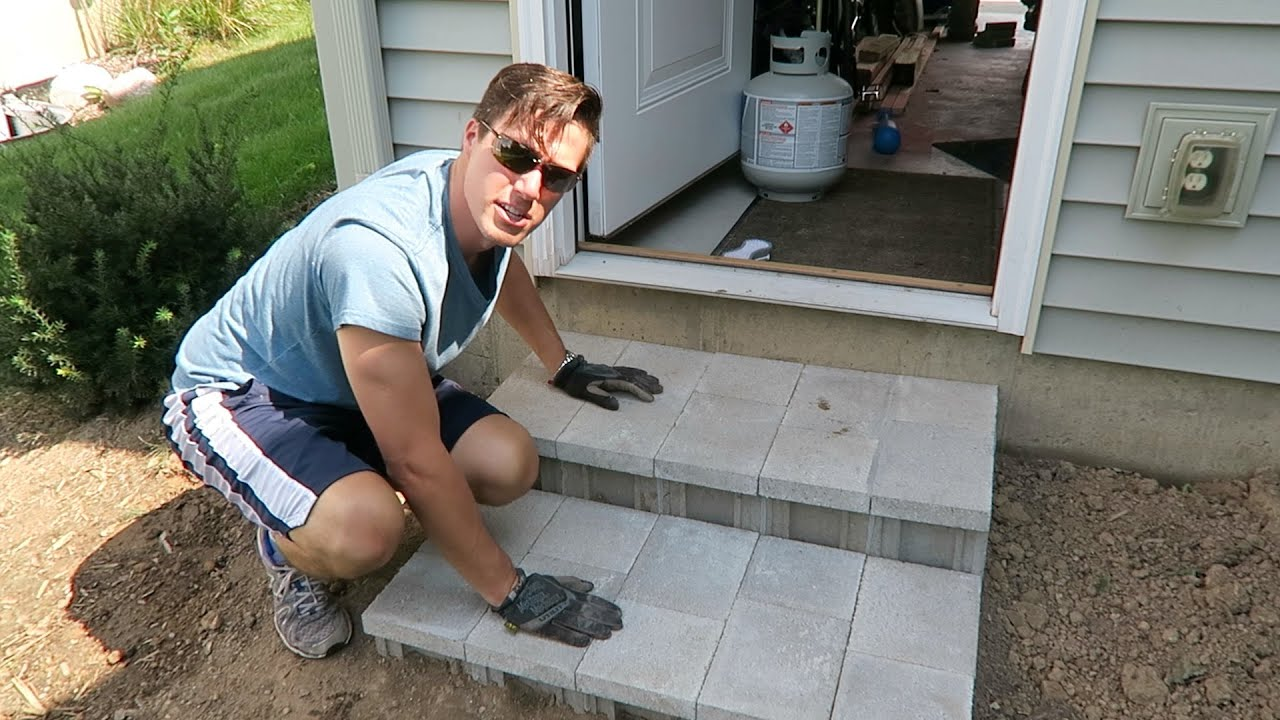 Well-known How To Build Cinder Block Steps - YouTube DG43