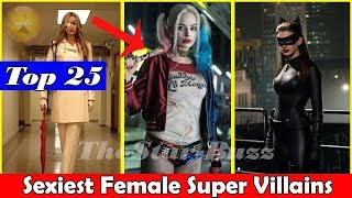 Top 25 Greatest Female Movie Villains of All Time ( Then and Now) | Top Hottest Super Villains Name