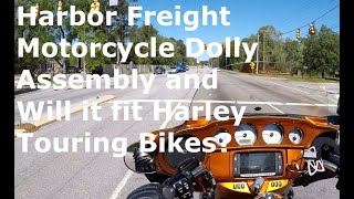 Harbor Freight Motorcycle Dolly, Assembly and Use