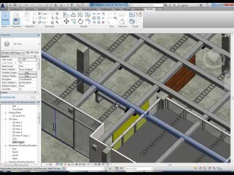 Elizabeth St Office Revit 07 Render Setup Modelling and Materials