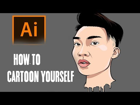 How To Cartoon Yourself !- Step By Step /RiceGum Tutorial ( ADOBE ILLUSTRATOR ) thumbnail