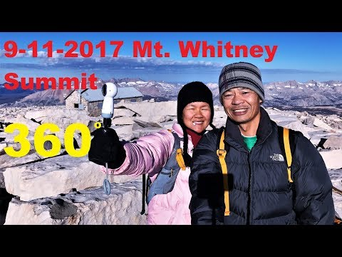 360 degrees view on Mt. Whitney Main Trail - Must Watch!!  Look around me.