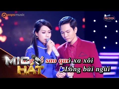 Hai Phương Trời Một Nỗi Nhớ | Đinh Thiên Hương ft Quang Đại | Karaoke