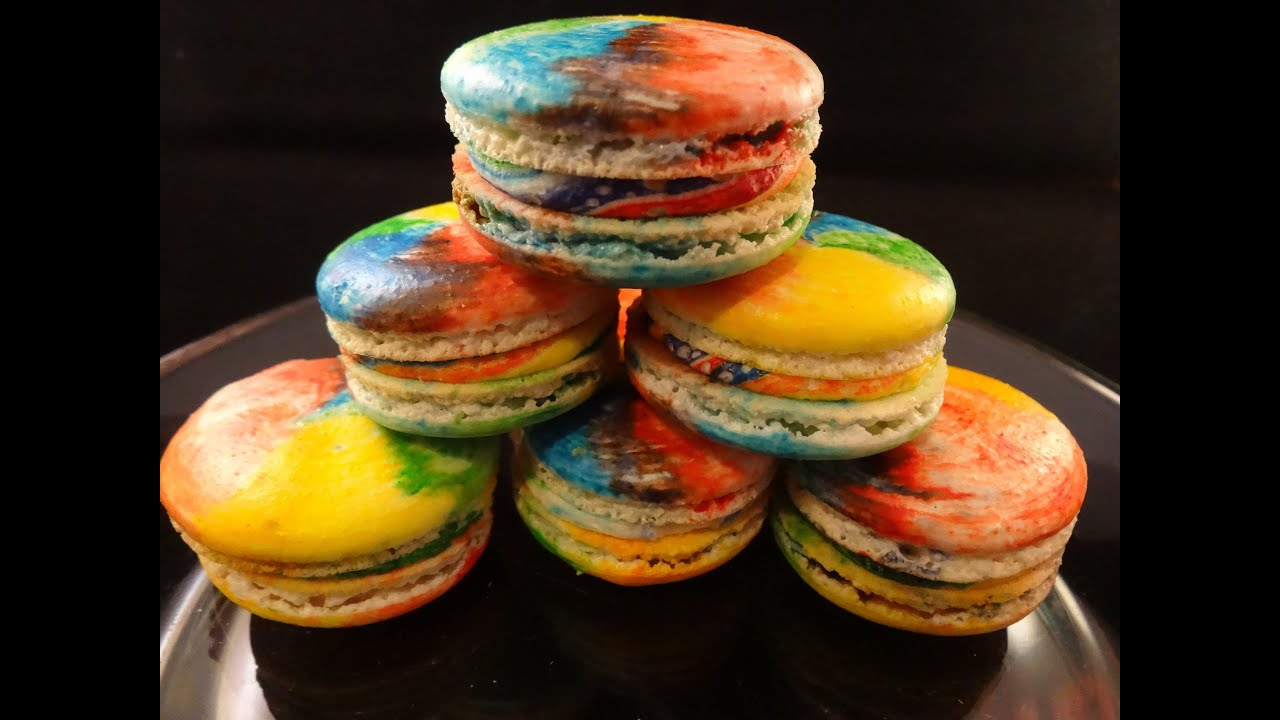 Rainbow French Macarons - with yoyomax12 - YouTube