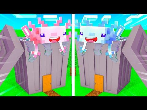 MÄDCHEN AXOLOTL BASE vs. Jungs AXOLOTL BASE✿ Minecraft [Deutsch/HD]